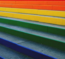Assorted color concrete stairs