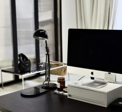 Monitor of convenient modern computer in office